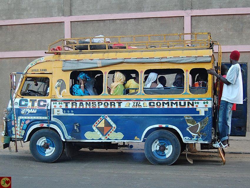Political Map Of Senegal%0A Le c  l  bre v  hicule de transport en commun appel     car rapide   ou   super