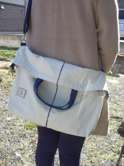 帆布の大きな2WAYトートバック by スヌクン バッグ・財布・小物 バッグ
