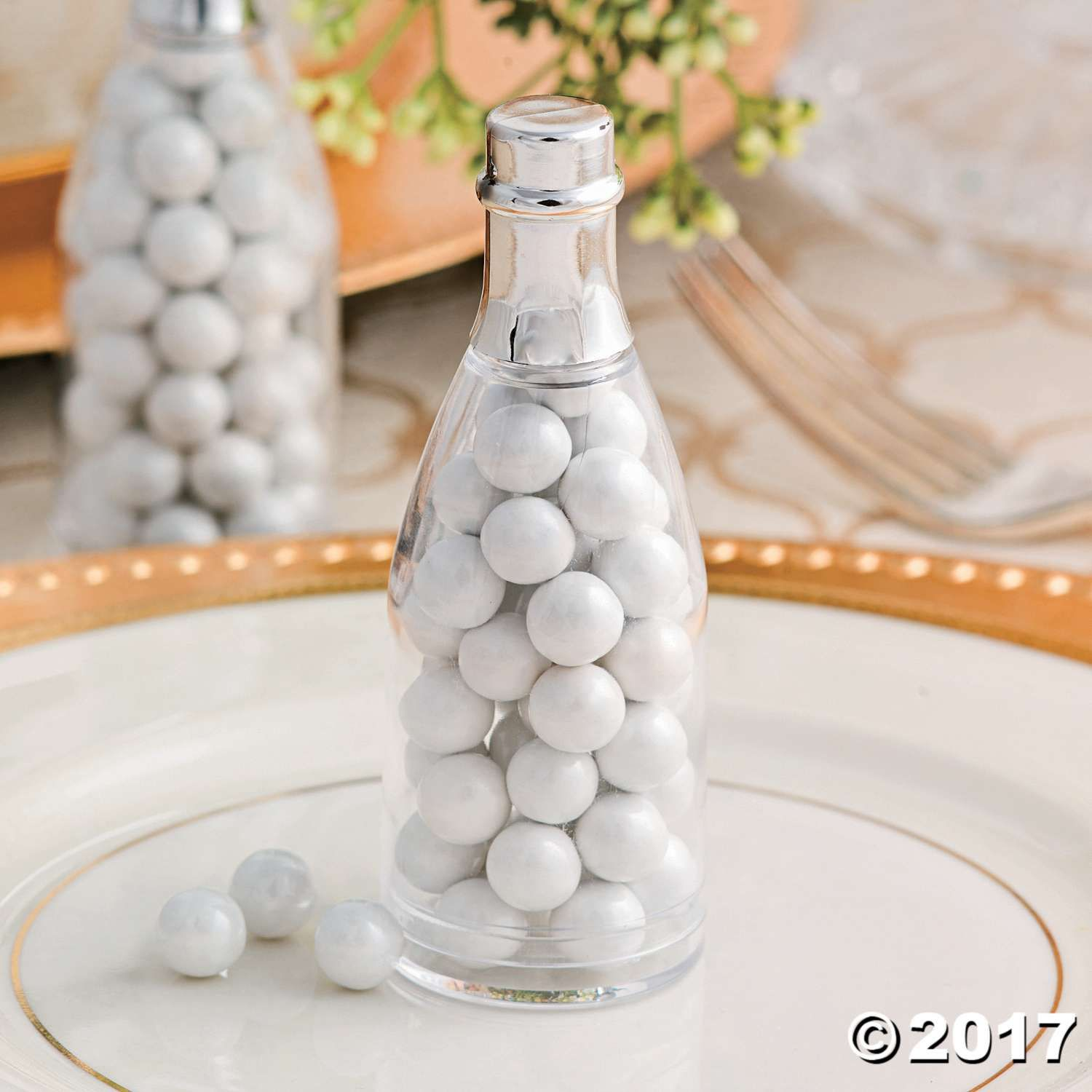 Clear Champagne Bottle Favor Containers | Champagne bottles, Mini ...