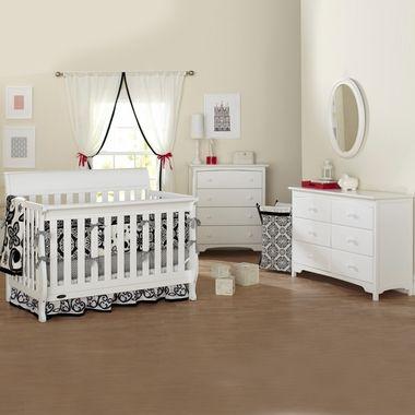Graco Cribs 3 Piece Nursery Set Hartford Convertible Crib Combo Dresser And 4 Drawer Dresser In White Free Sh Nursery Furniture Sets Convertible Crib Cribs