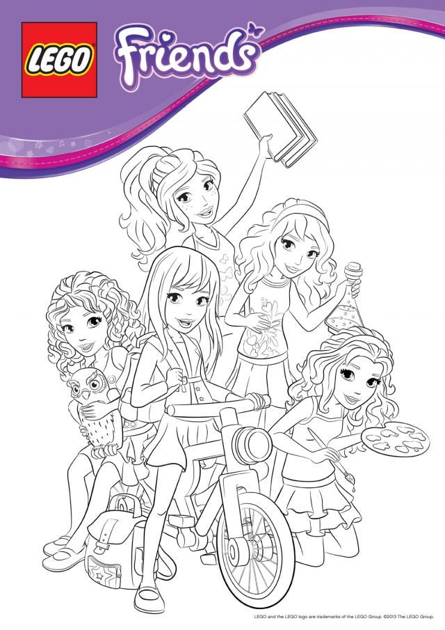 Superb Lego Friends Coloring Book