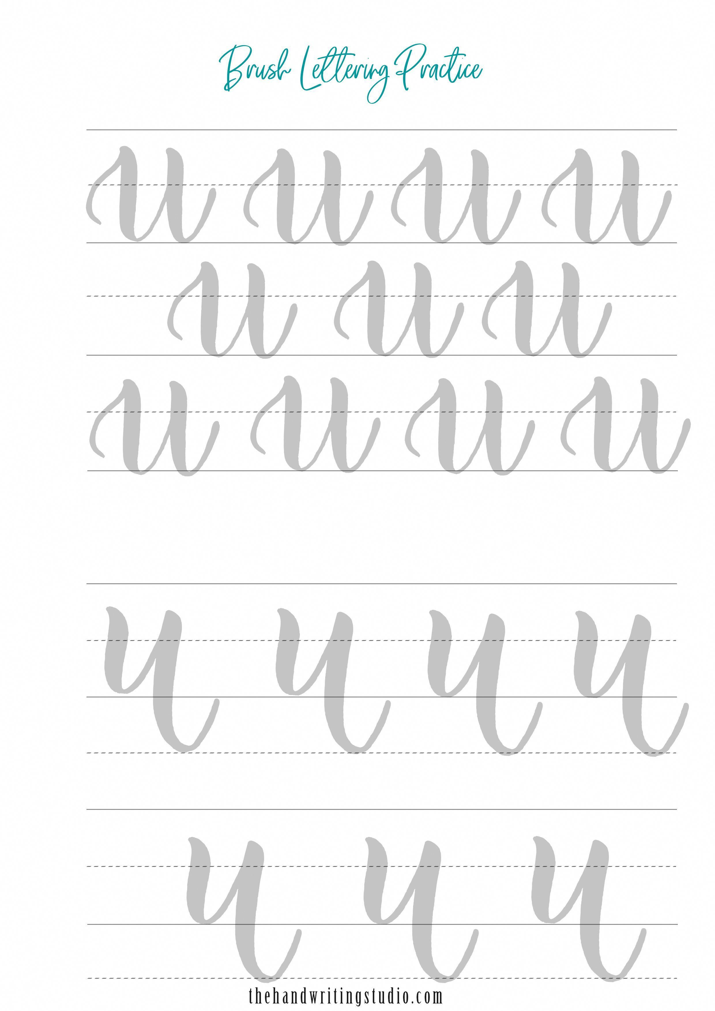 Brush Calligraphy And Hand Lettering Worksheets