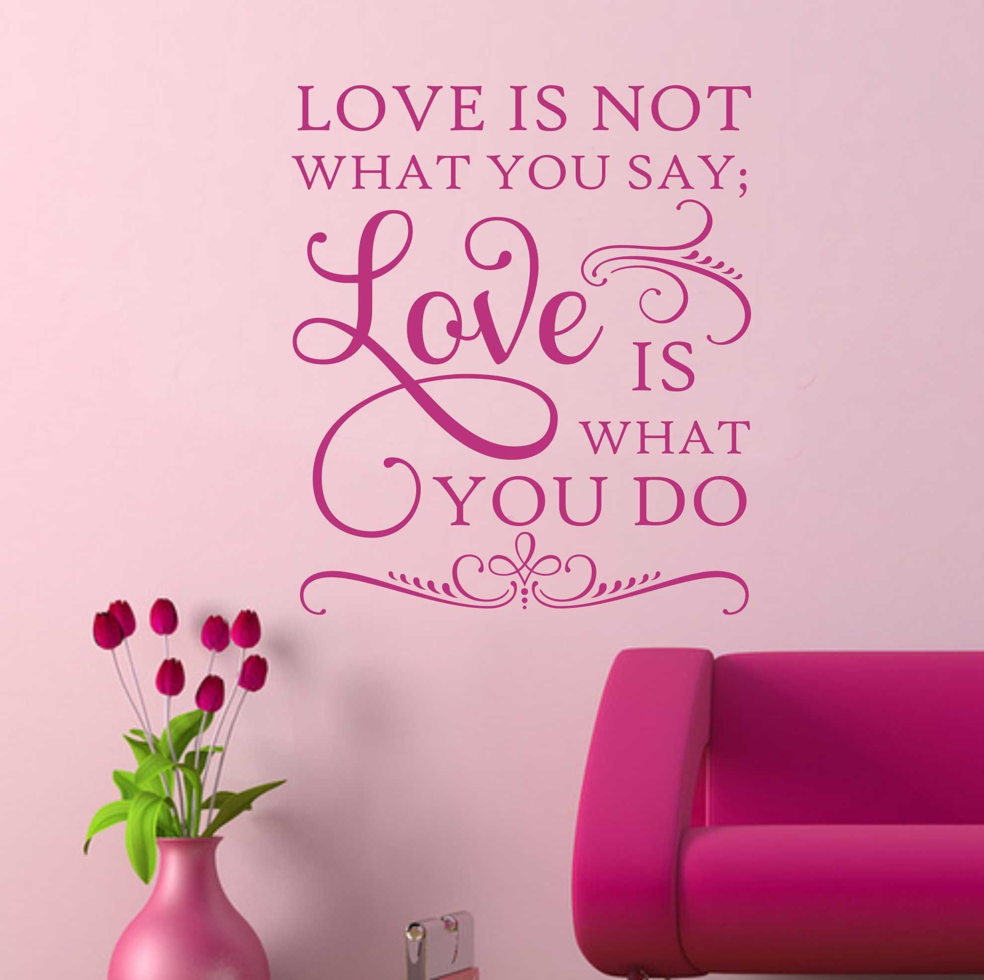 Bedroom Wall Decal Love Is What You Do Letter Wall Vinyl Wall