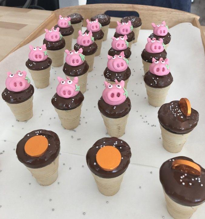 Kleine Kuchen im Waffelbecher  Rezept  Rrrrr