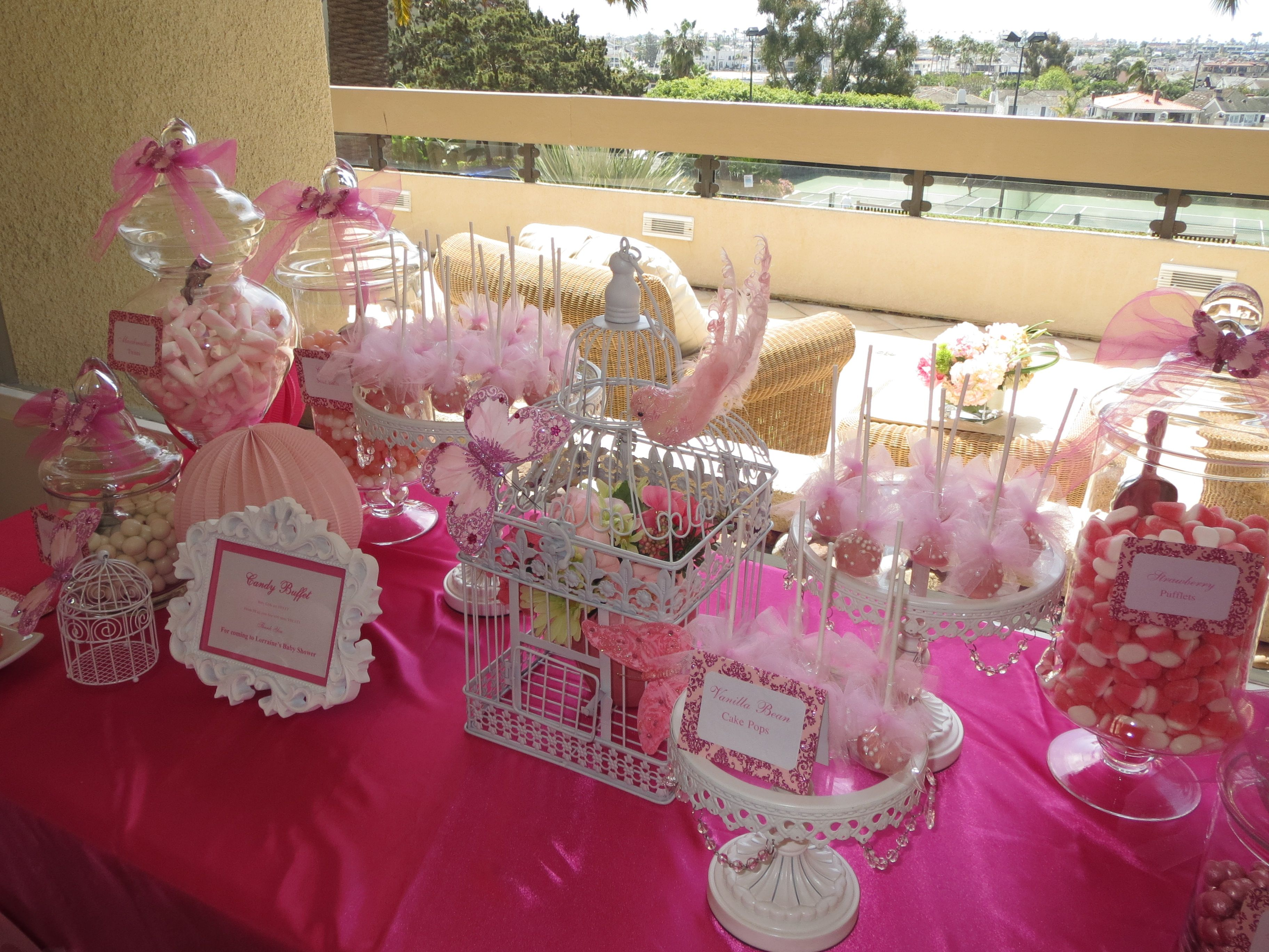 Pink Butterfly Candy Dessert Table By Oc Sugar Mama Pink Butterfly Sweet Table Dessert Table