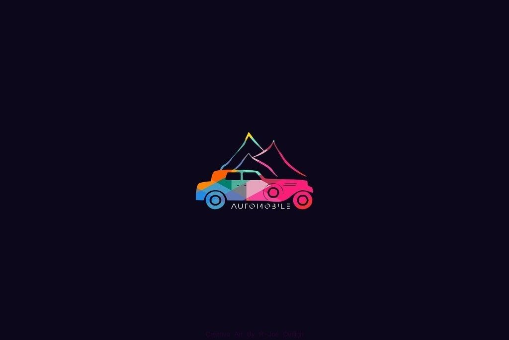 Car Mountains Colorful Minimal Wallpaper Car Wallpapers Minimal Wallpaper Wallpaper