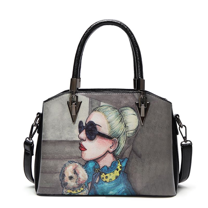 fb23164b7d84 2018 New Handbag ladies vintage printing logo and pattern famous brand  dubai handbags for women