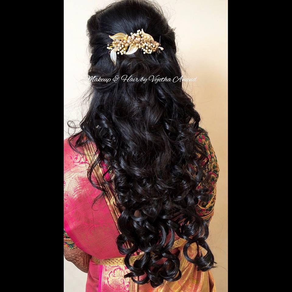 Pretty Bridal Curls. Reception Hairstyle. Easy Bridal