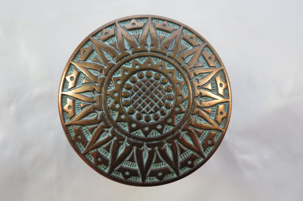 2 eastlake antique victorian bronze door knobs russell erwin