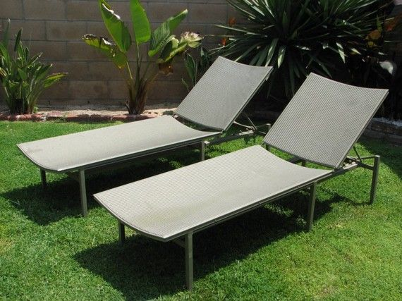 Pair of Vintage Hal Bradley for Brown Jordan Regent Chaise Lounge or Patio Chairs. USA : brown jordan chaise lounge - Sectionals, Sofas & Couches
