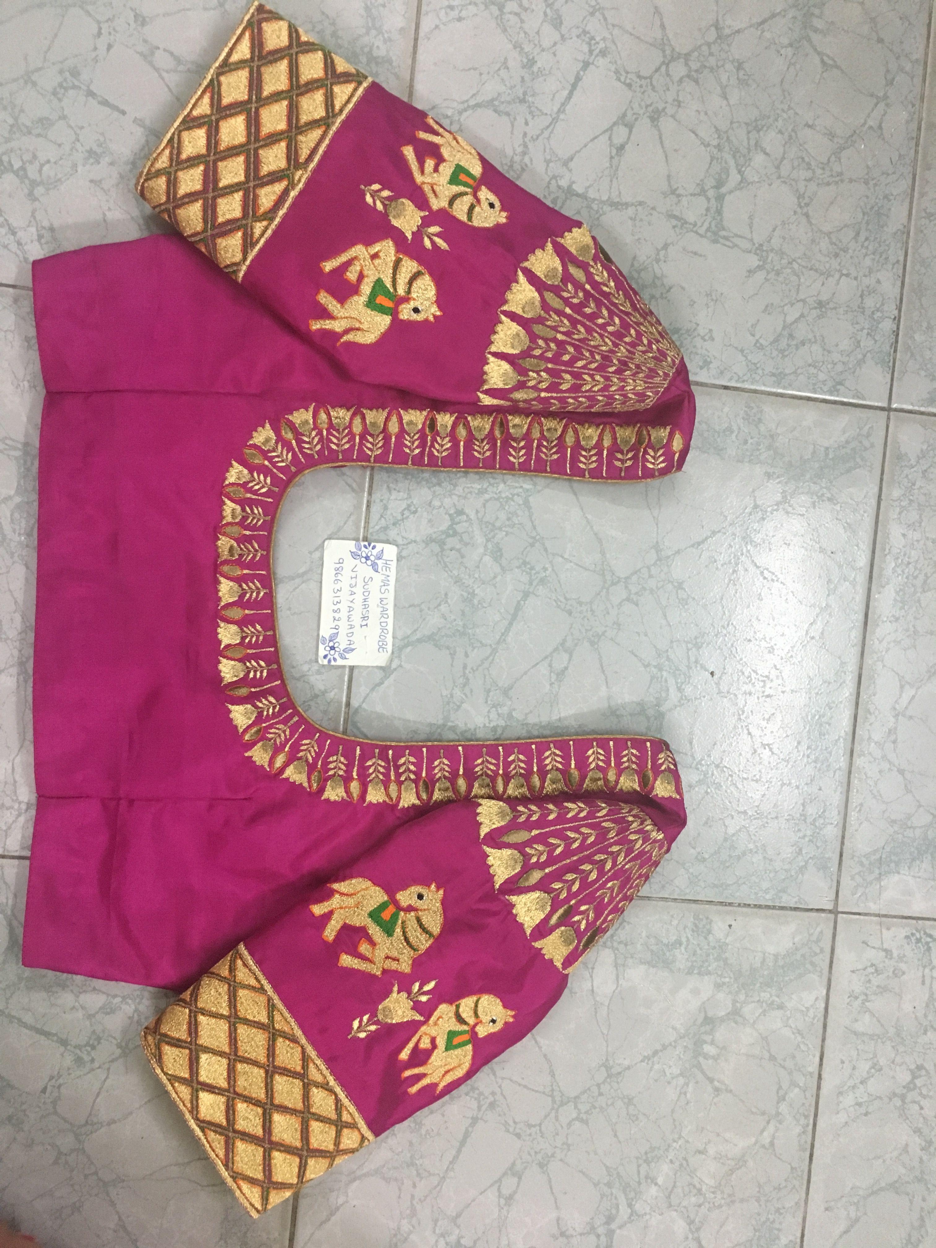 Saree blouse design patch work sudhasri hemaswardrobe  kas  pinterest  blouse designs saree and
