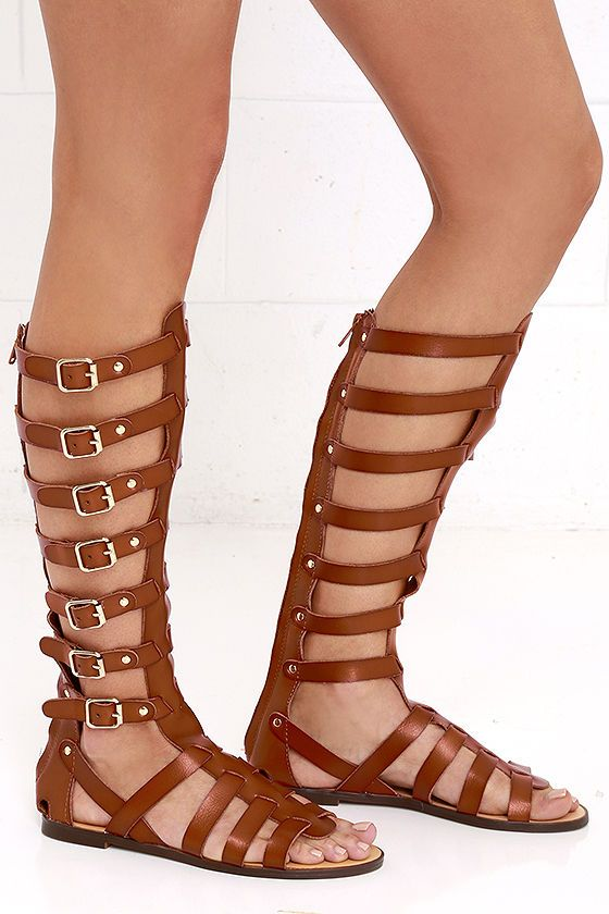 74a330f9609 Madden Girl Penna Cognac Tall Gladiator Sandals in 2019 | S H O E S ...