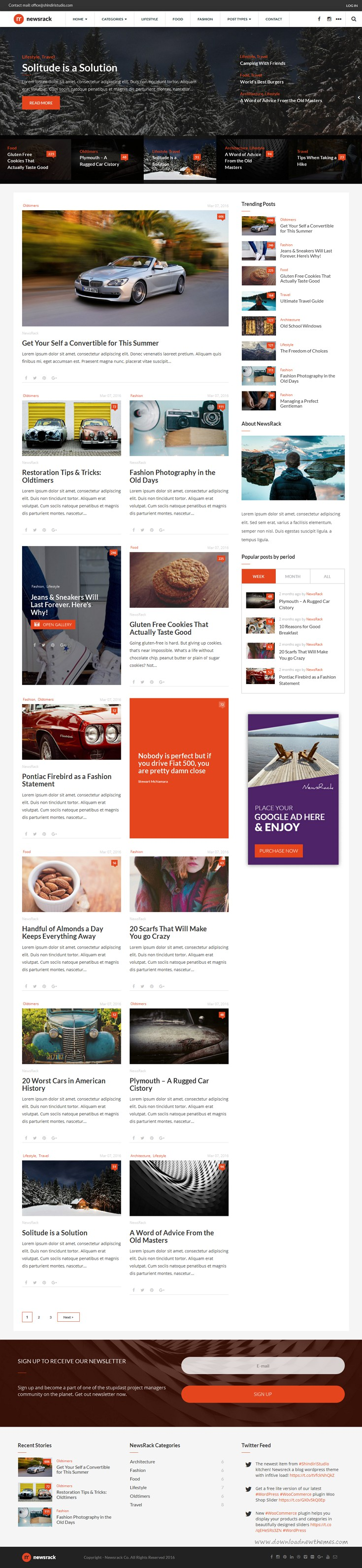 Newsrack - Responsive WordPress Blog Theme With Infinitive Load ...