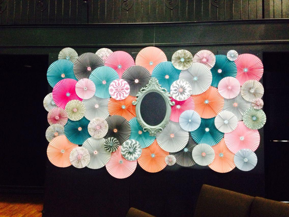 Decoraci n para pared abanicos de papel abanico de papel for Decoracion con abanicos