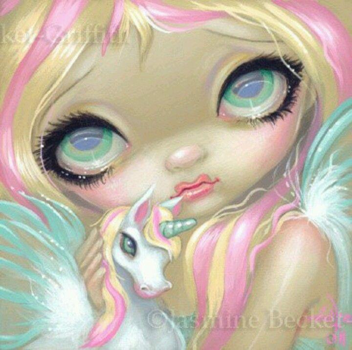 Jasmine Becket-Griffith art print SIGNED Twilight Delight fairy unicorn pegasus