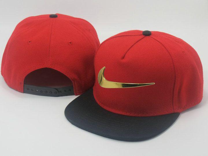 more photos ee8a9 22f11 Men s Nike Heritage Dri-FIT Jumbo Nike Gold Metal Logo Front A-Frame  Baseball…