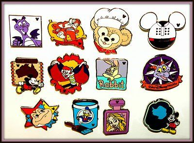 hidden mickey completer pins | Disney Pin 2013 2012 Completer Hidden Mickey 12 Lot Set Duffy Figment ...