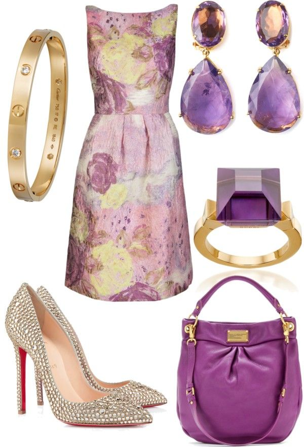 """""""purple and gold"""" by shelly-douglas-koehler ❤ liked on Polyvore"""