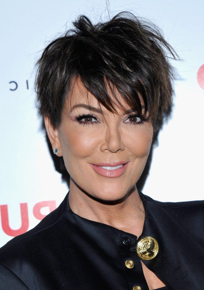 Make Up Eyeliner Headshot Kris Jenner Looking At Camera Mascara Off Shoulder One Person One Woman Only People Kris Jenner Hair Jenner Hair Short Hair Haircuts