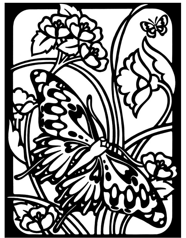 Dover Coloring Pages to Print | stained glass to color, courtesy ...