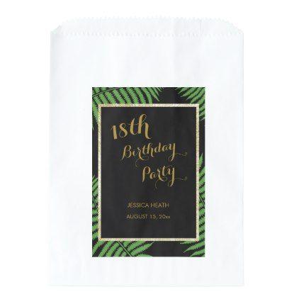 Elegant Classy Bracken 18th Birthday Favor Bag