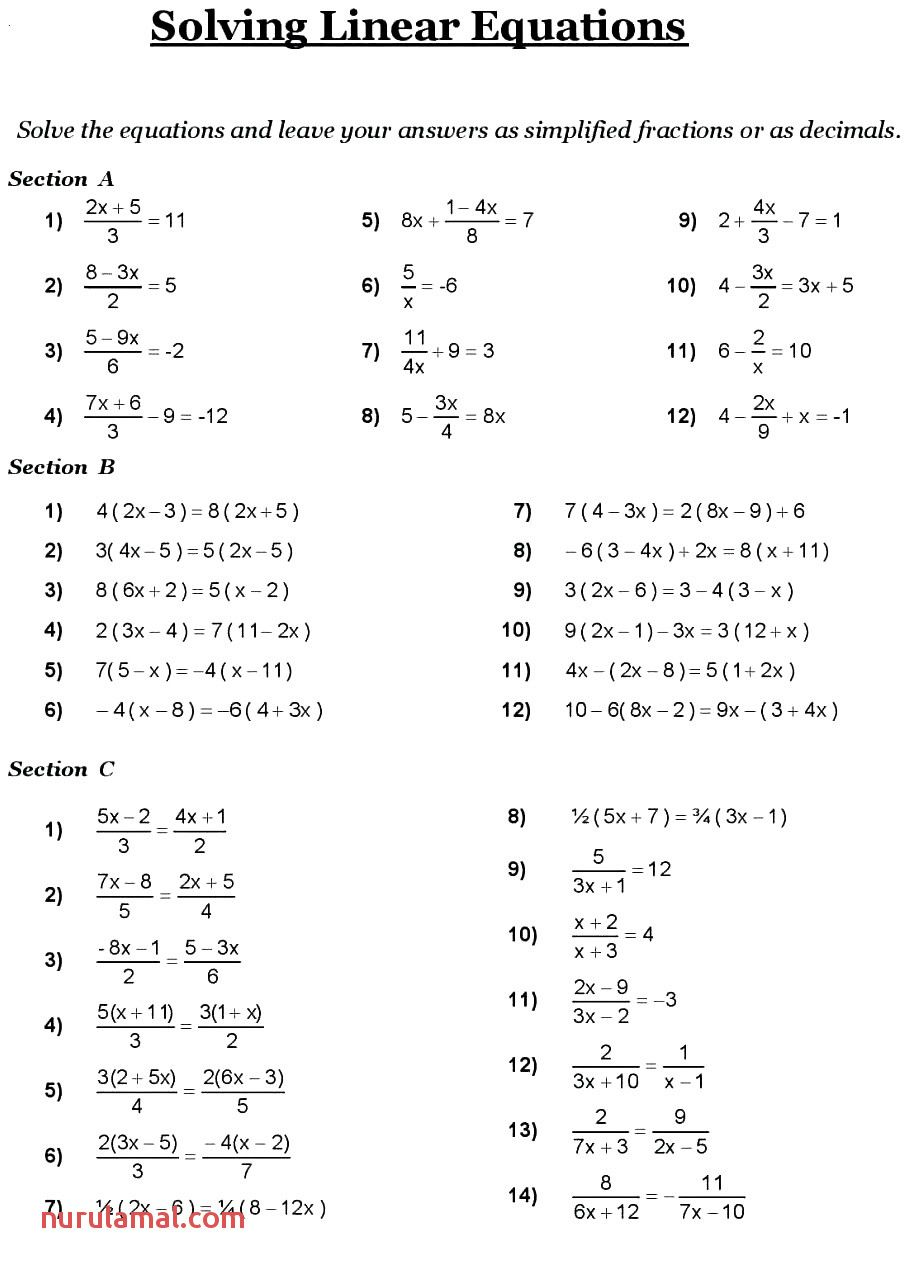 Algebra Practice Problems Worksheet Education Com Algebra Fifth Grade Math Algebra Problems