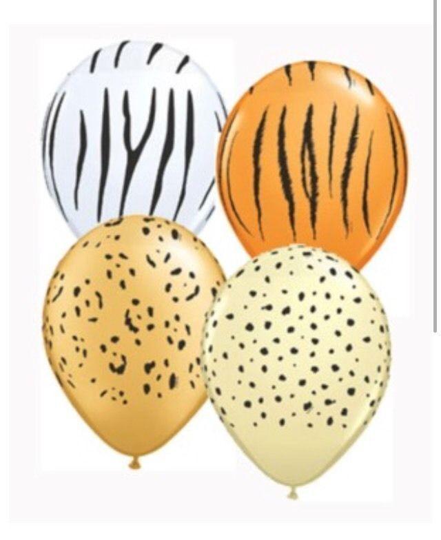 Safari Animal Jungle 5 Latex Balloons x 10 Leopard Birthday Party