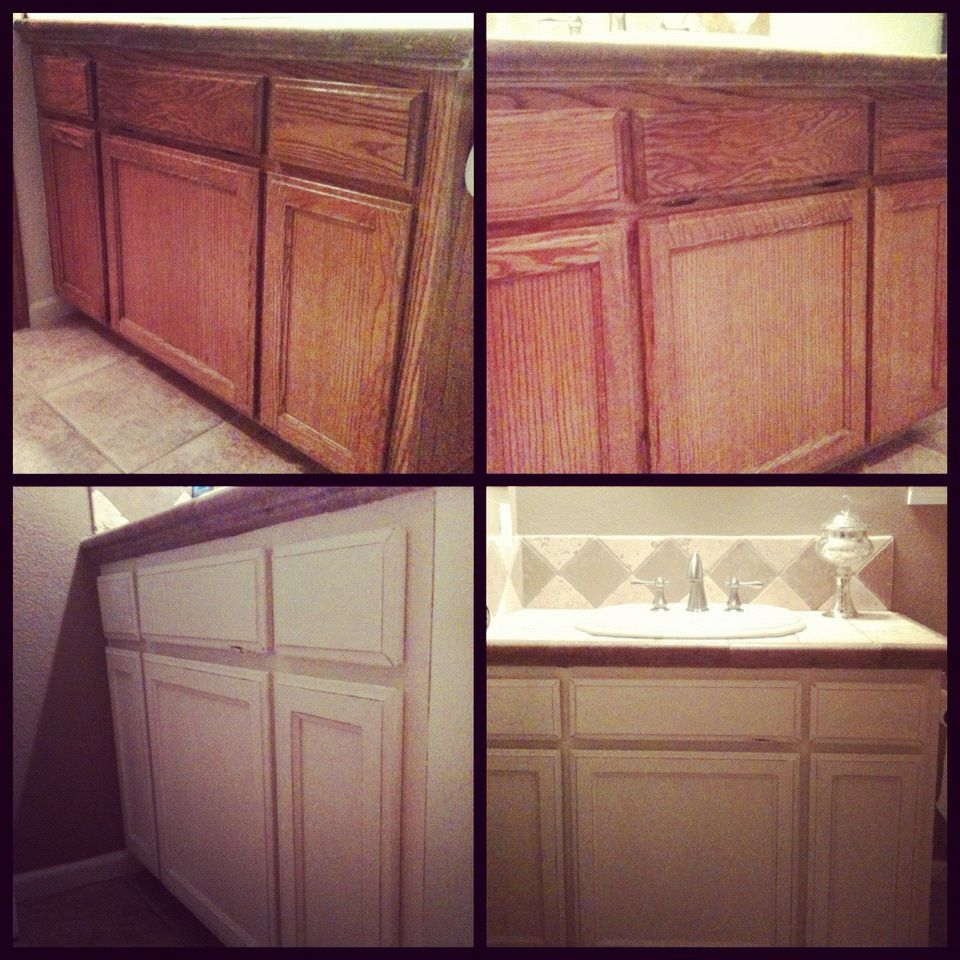 Painting Kitchen Cabinets With Annie Sloan: Chic Bathroom Cabinet Update With Annie Sloan Chalk Paint