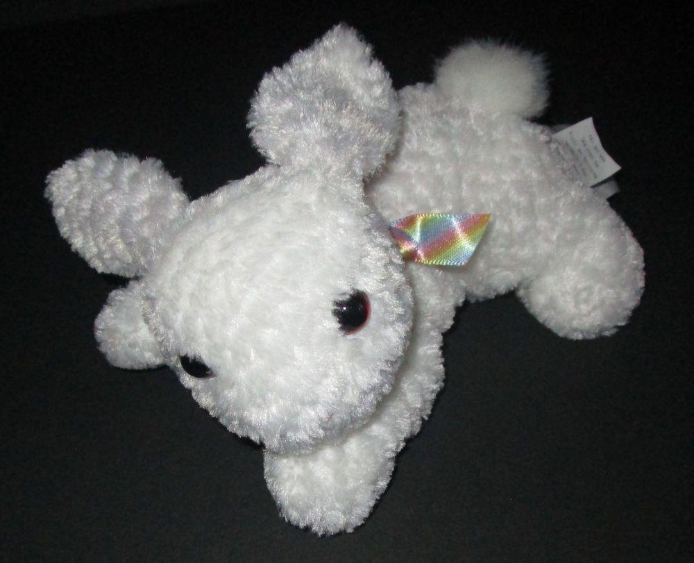 Walmart White Plush Baby Bunny Rabbit Stuffed Laying