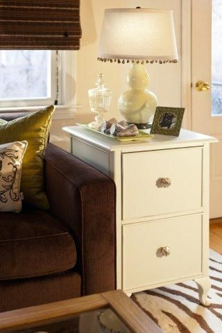 File Cabinet As End Table Lovin It Cabbages Amp Kings