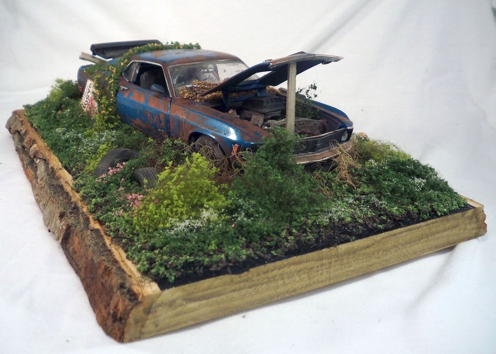 1970 Ford Mustang Boss 302 M2 Machines Barn Find Weathered 1 24 Custom Diorama Ford Mustang Boss 302 Mustang Boss 302 1970 Ford Mustang