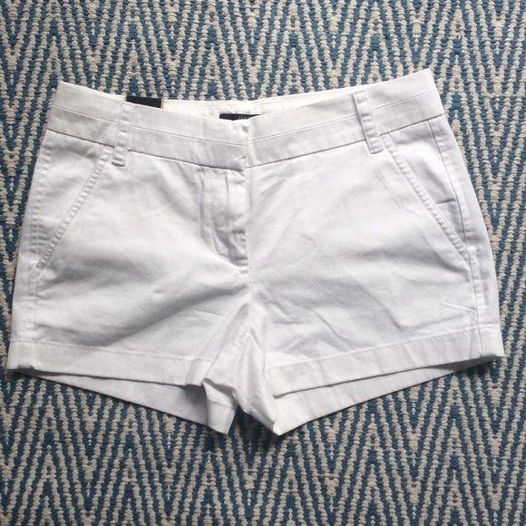 "NWT Jcrew white shorts NWT Jcrew white 3"" chino shorts J. Crew Shorts"