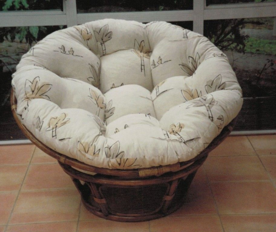 Brown Rattan World Market Papasan With White Cushion Seat Papasan Chair Papasan Chair Cushion Chair Cushion Covers
