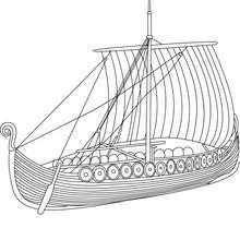 Viking Ship Side View Coloring Pages Vikings Viking Ship