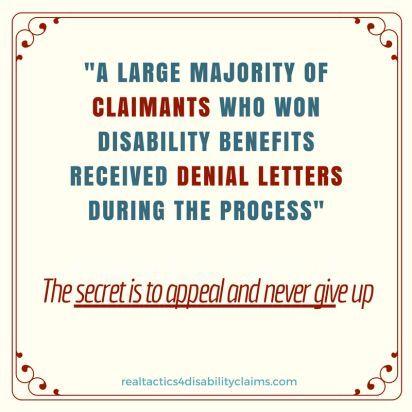 denial letter canned letter appeal disability denial, social - denial letter