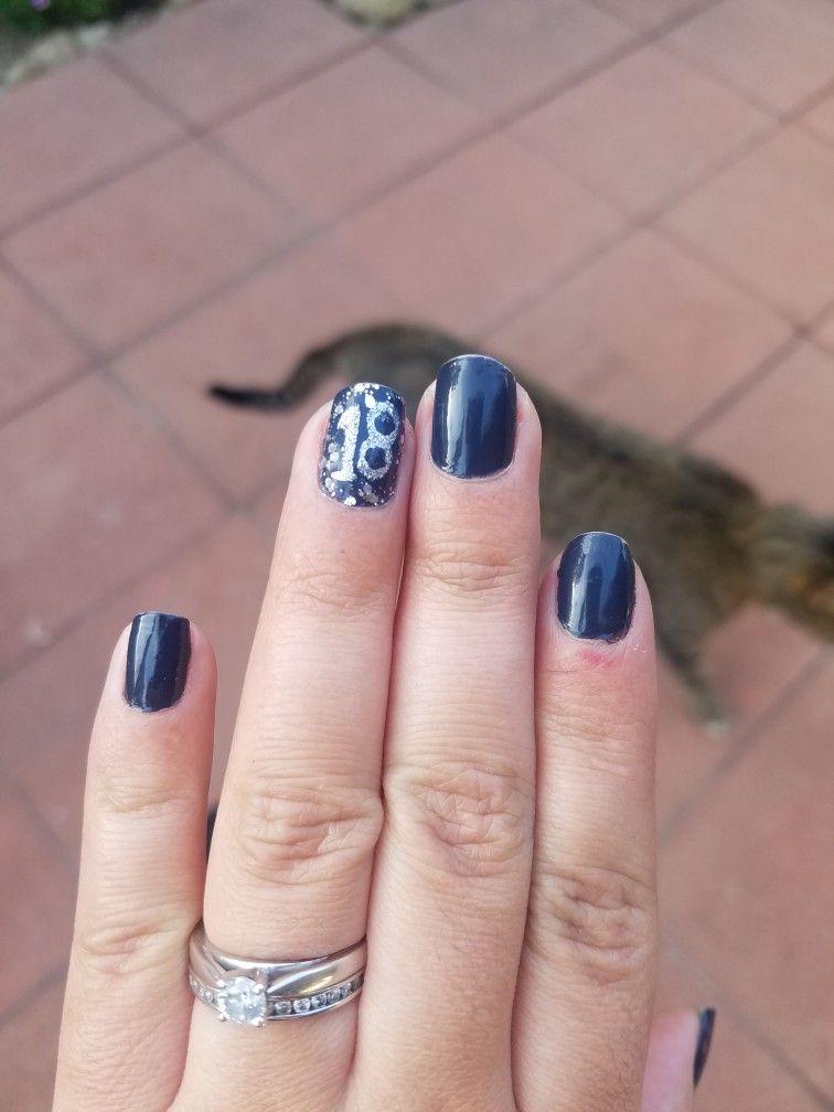 New year nails. Last minute Diy nails, New year's nails
