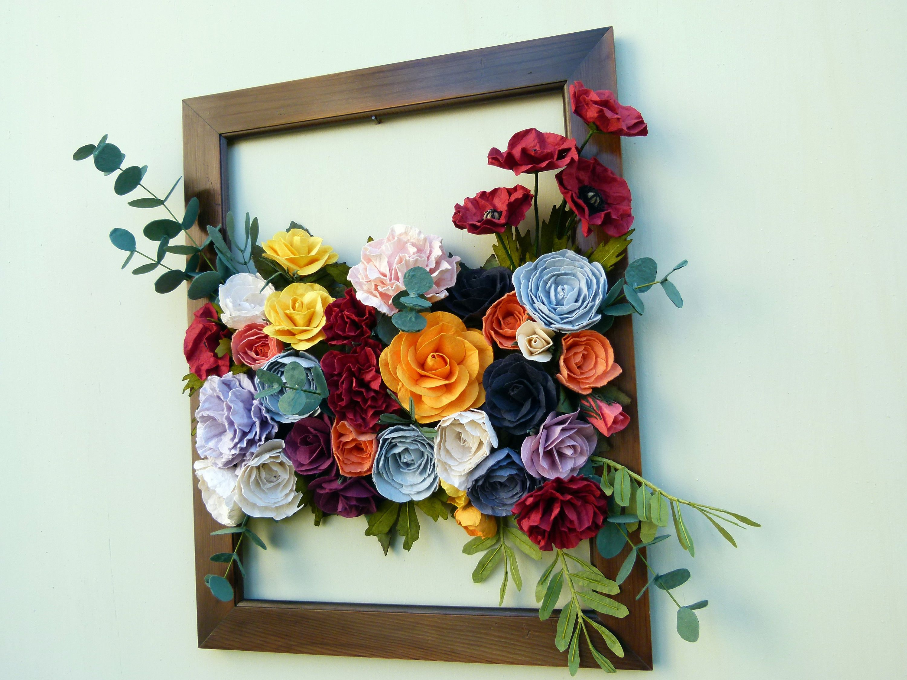 Paper Flower Wall Hanging Large Floral Wall Hanging Flower Etsy
