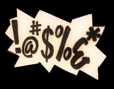 Think, comic strip swear word