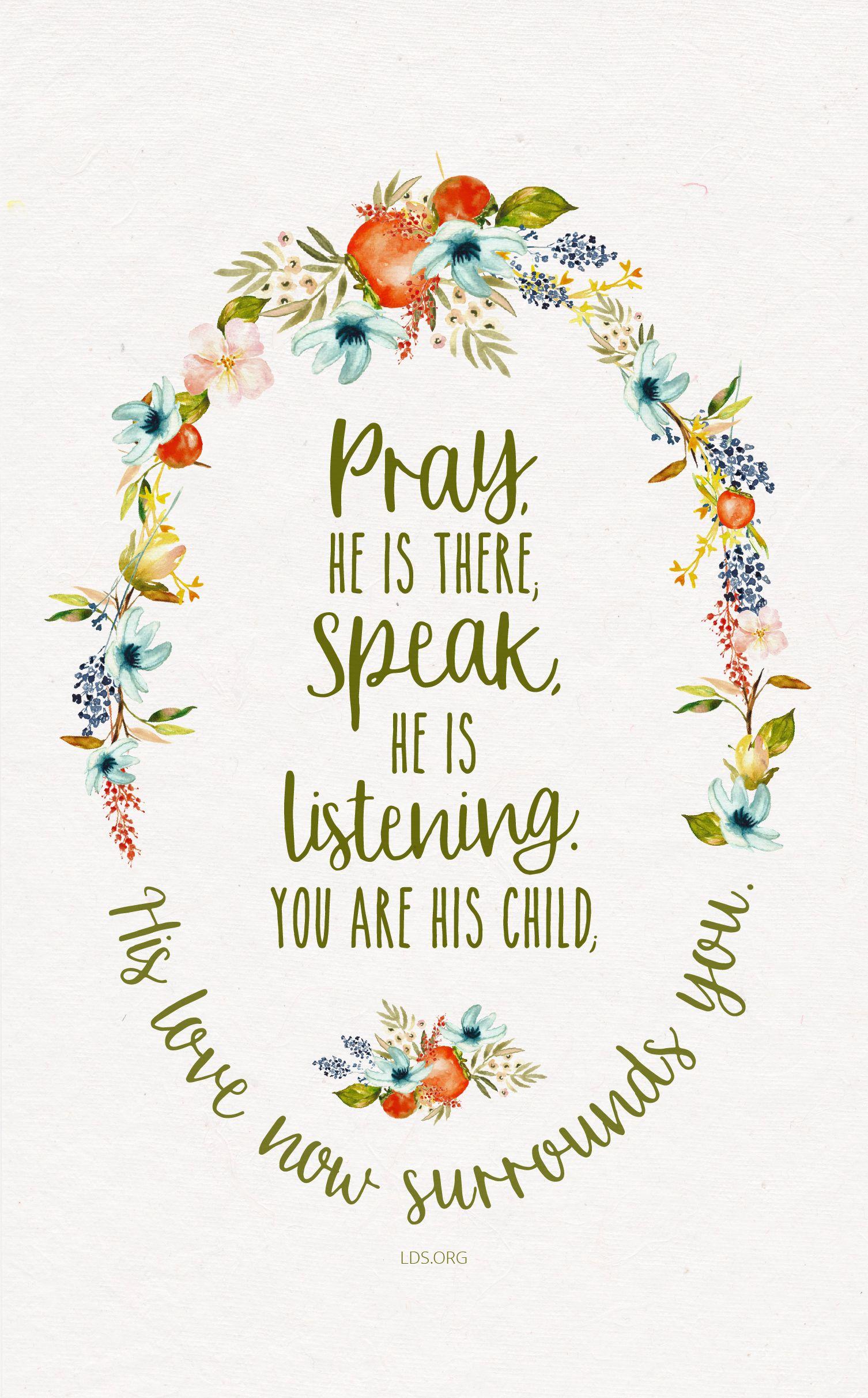 A Childs Prayer Lds For The Spirit Prayers Lds Quotes Lds