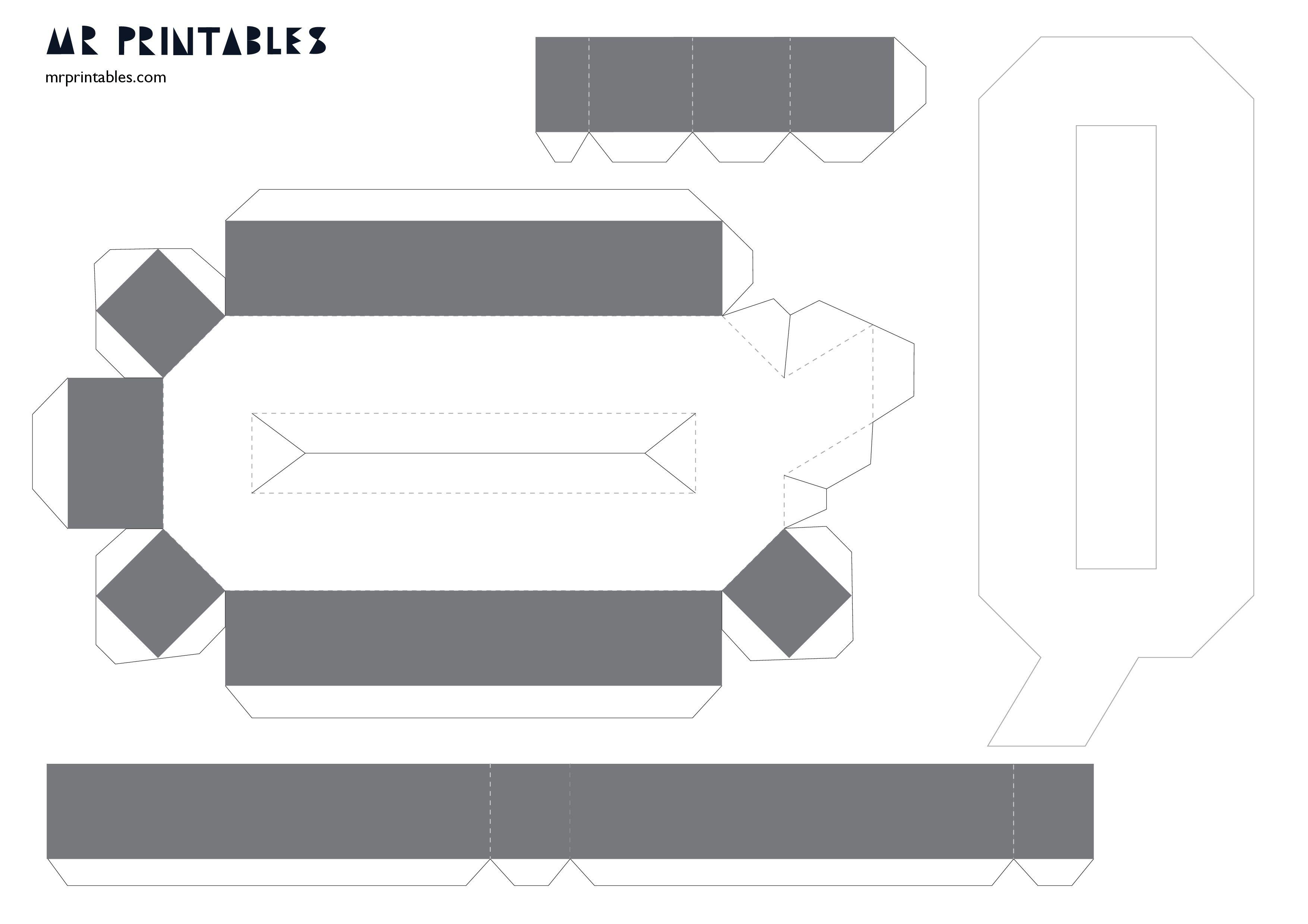 830469831283e5cd3c21647ce0152de5  D Letter Template Pdf on cut out, printable box,