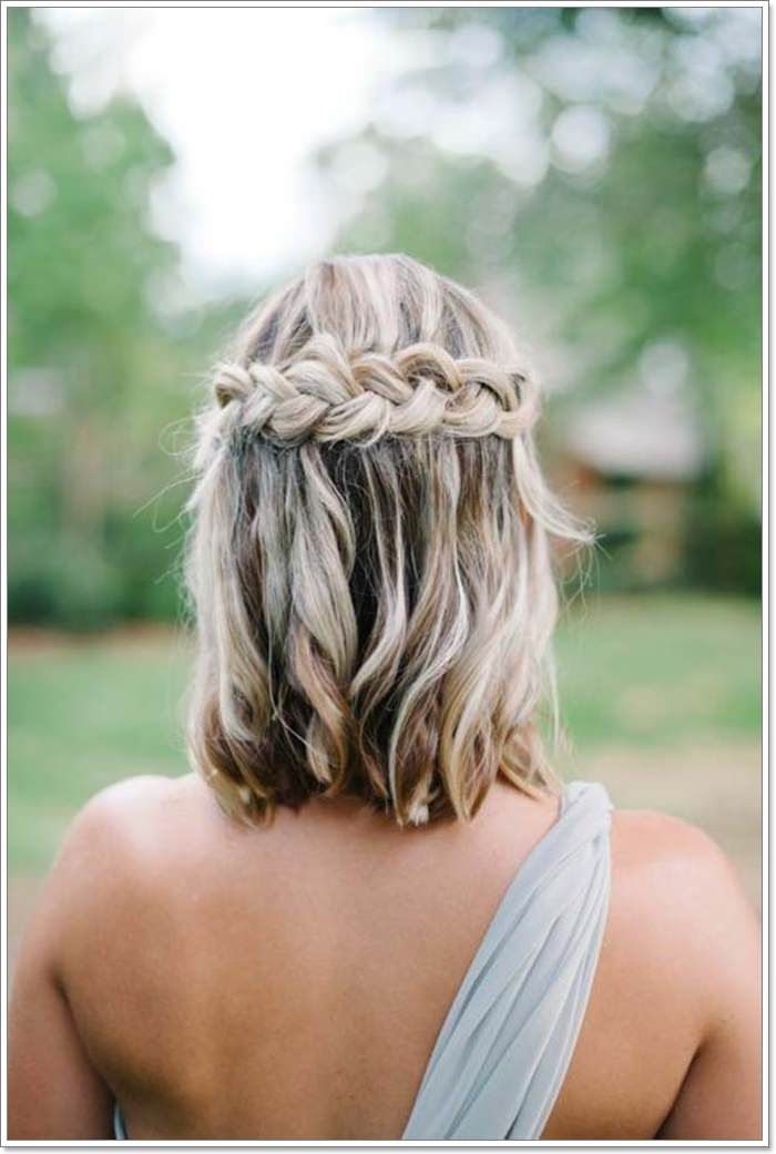 135 Whimsical Half Up Half Down Hairstyles You Can Wear For All Occasions Short Hair Styles Braids For Short Hair Short Wedding Hair