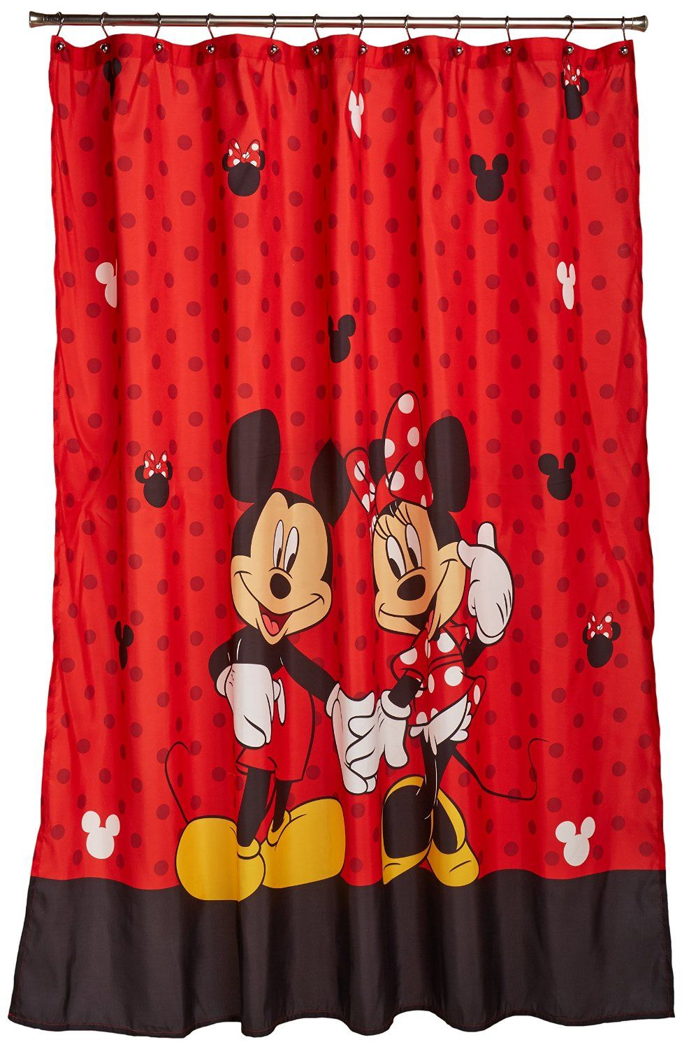 Amazon.com - Disney Mickey and Minnie Fabric Shower Curtain - | Kids ...