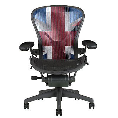 Buy Herman Miller Aeron Office Chair  Size B  Union Jack online at  JohnLewis Buy Herman Miller Aeron Office Chair  Size B  Union Jack online at  . Aeron Desk Chair. Home Design Ideas