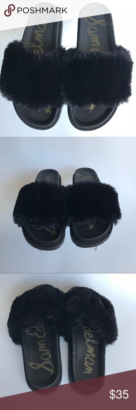 9b103a27c349 Sam Edelman Blair s Faux Fur Slide Sandal Sz 9 Sam Edelman Blaire Faux Fur  Slide Sandals