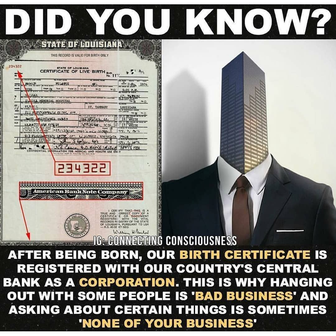 Fake All The Way Down To Your Birth Certificate Or Your Barcode