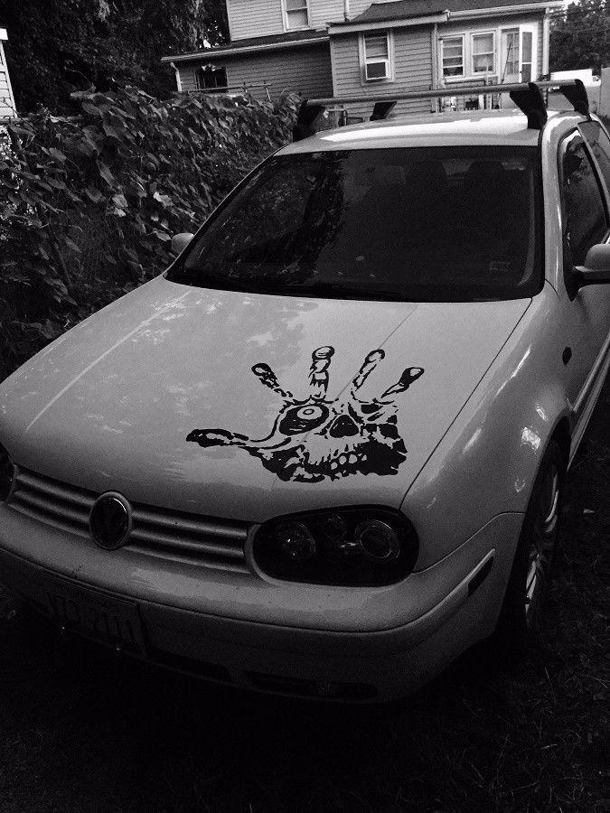 Hand skull eye fingers hood decal large 23 car truck graphic vinyl sticker