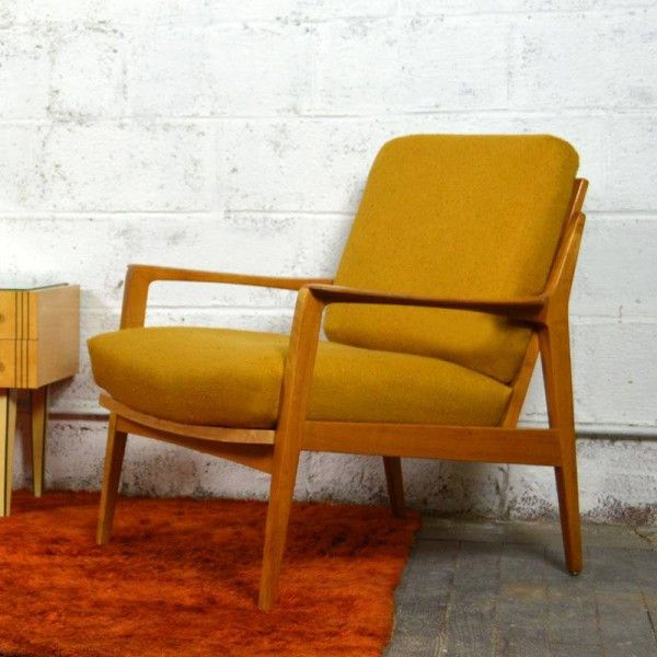 Fauteuil scandinave knoll antimott for the home - Fauteuil bascule scandinave ...