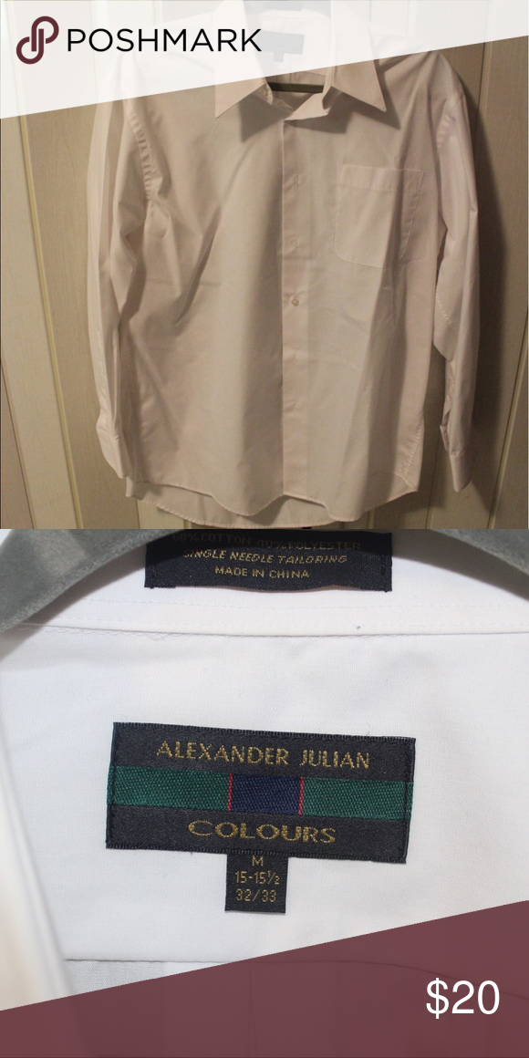 Men's long sleeve shirt medium Again, worn once. Not sure why he even buys clothes at this point! 😂 Alexander Julian Shirts Dress Shirts