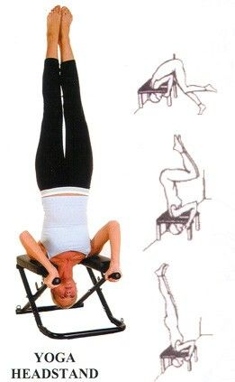 yoga headstand bench  bench
