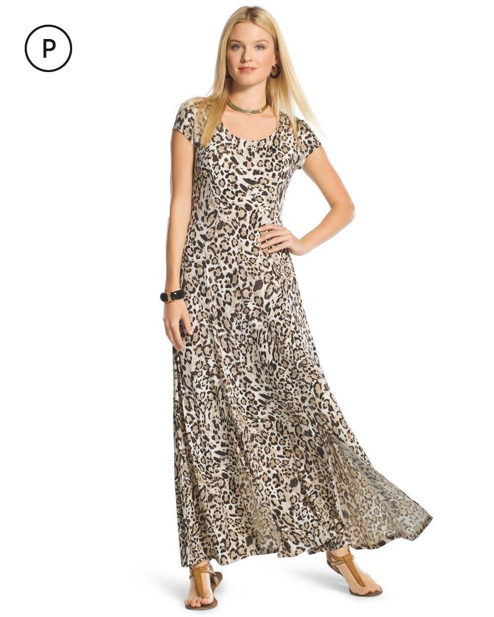 b8033fd99c Chico s Women s Petite Animal-Print Maxi Dress